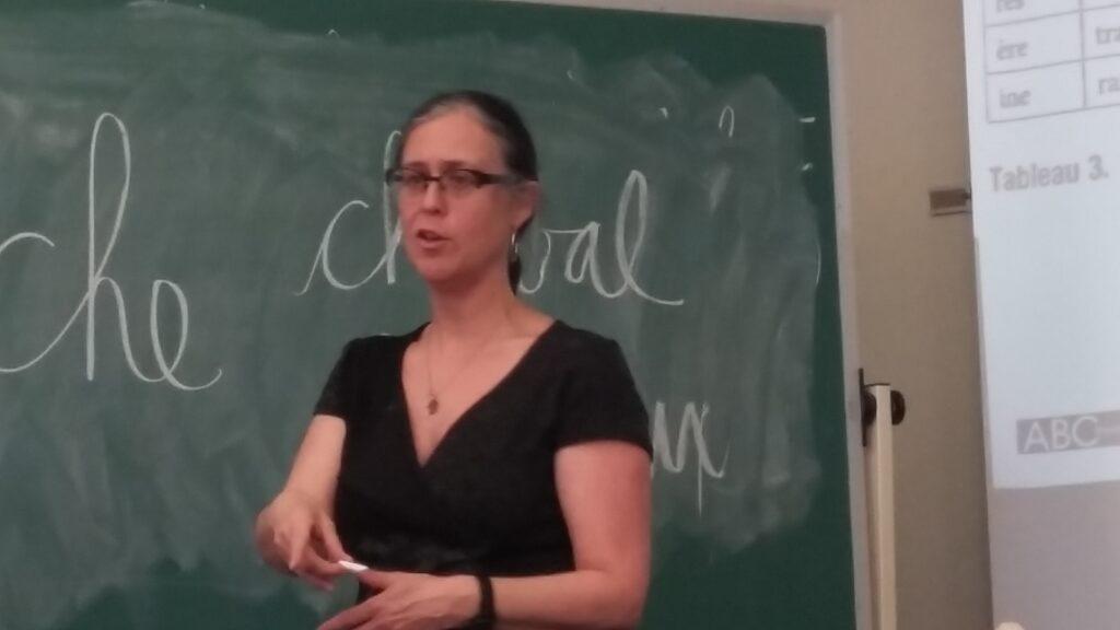 Natasha Rouleau en formation