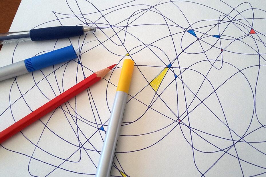 dessin sans-dessein jeu contrôle du crayon
