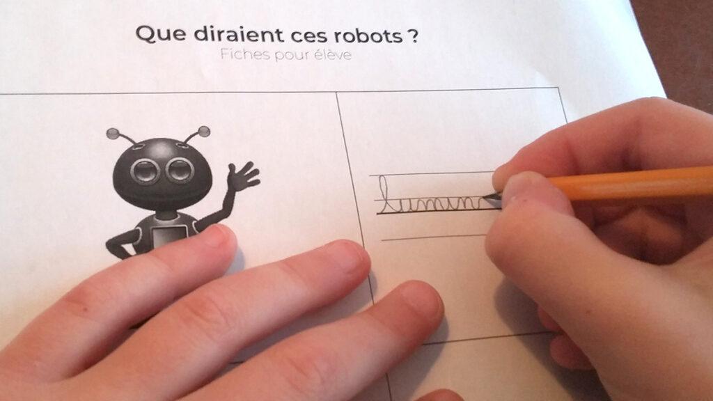 Jeu mots de robots graphomotricité pratiquer les syllabes