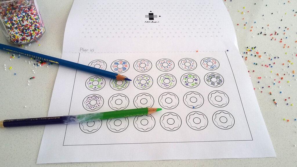 Pâtissier, beignes et crayons deux bouts DIY