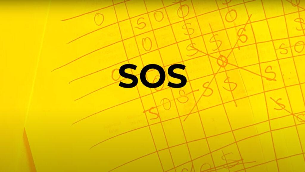 SOS jeu contrôle du crayon